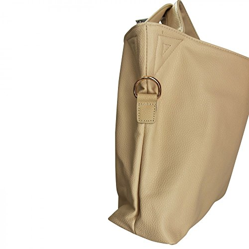 Shopping-et-Mode - Cartera de mano de Lona para mujer beige beige