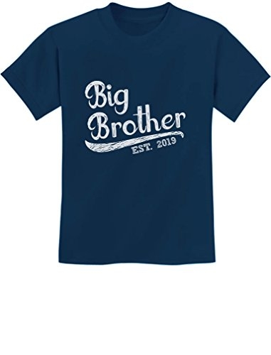 Tstars - Gift for Big Brother 2019 Siblings Gift Youth Kids T-Shirt Large Navy