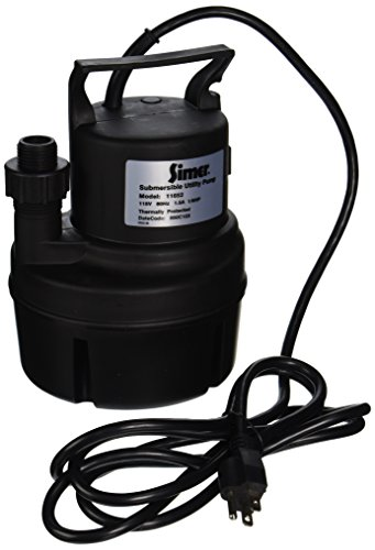(Simer 11652 1/6 HP Submersible Utility Pump)