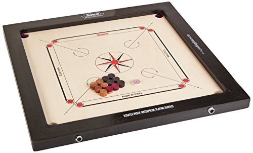 Surco Boss Speedo Carrom Board with Coins and Striker, 16mm