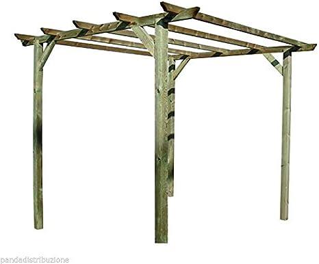 Enrejado/Pergola/Pergole de madera Blinky Mod. Glicinia cm. 300 x 300 x 240: Amazon.es: Bricolaje y herramientas