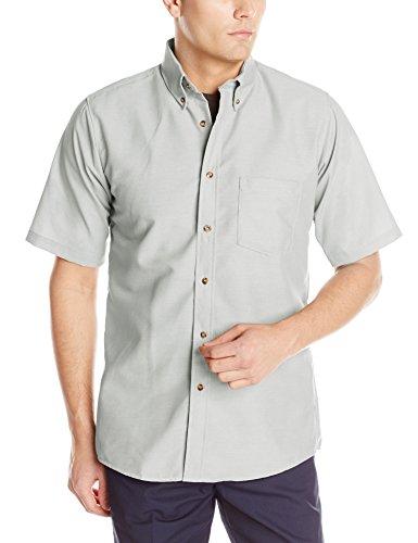 Red Kap Men's RK Poplin Dress Shirt, Silver Grey, SS XL