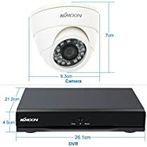 KKmoon 8CH Channel CCTV Surveillance DVR Security System Network Digital Video Recorder + 1TB+4Indoor Infrared Doom Camera + 460ft Cable support IR-CUT Filter Infrared Night Vision Email Alarm