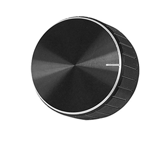 uxcell Black Aluminum Volume Control Amplifier Knob Wheel