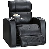 Palliser Westley Leather Power Home Theater Recliner with USB Charging, Black
