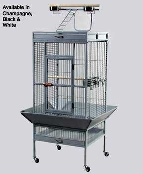 Prevue Pet Products Wrought Iron Select Bird Cage 3152 Black Hammertone