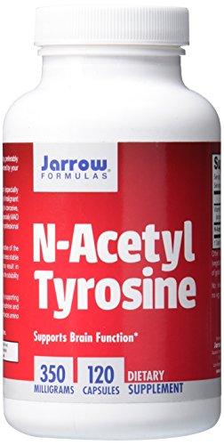 Jarrow Formulas N-Acetyl Tyrosine, Supports Brain Function, 350 mg, 120 Caps