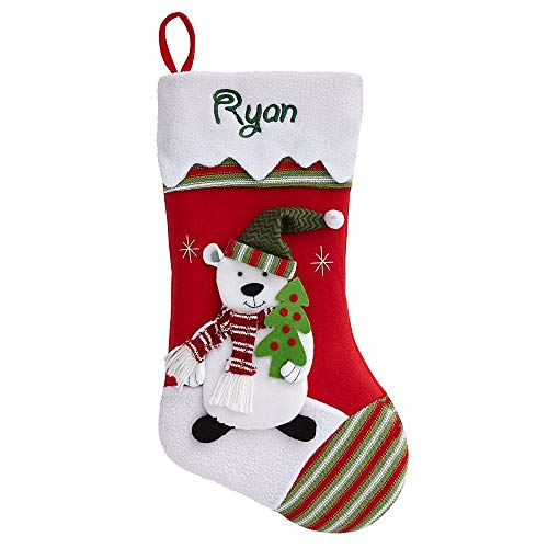 Personal Creations - Personalized Gifts Winter Wonderland Stocking-Polar Bear