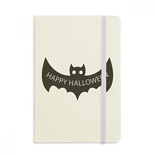 Hallowmas Black Bats Happy Halloween Classic Notebooks Fabric Hard Cover Office Work (Happy Halloween Cover Page)