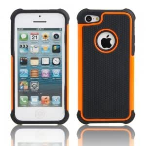 2-in-1 Robot Silicone Shockproof Protective PC Case for iPhone 5C Orange