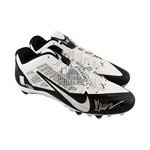 Marcus Allen Autographed Nike Football Cleats - BAS COA (White Low) - Beckett Authentication - Autographed NFL Cleats (Marcus Allen Autographed Football)