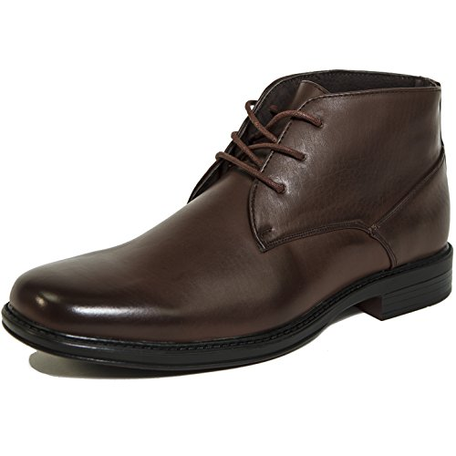 Alpine Swiss Men's Brown Leather Lined Dressy Ankle Boots 9