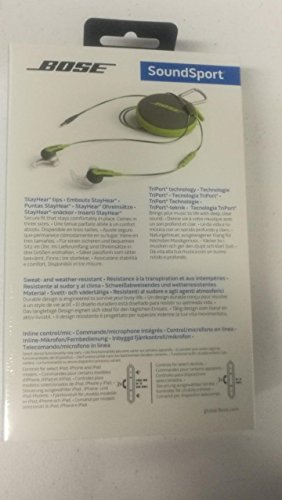 Brand New/Sealed Bose SoundSport in-ear headphones - Apple devices, Energy Green Color, 741776-0030 by Bose