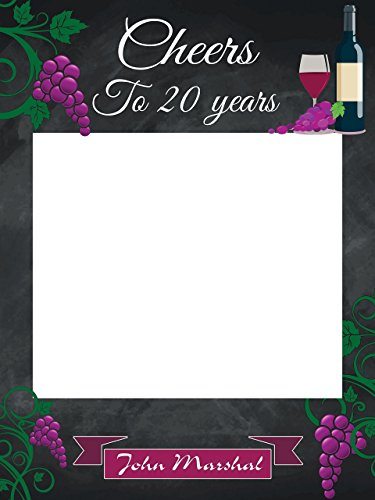 Winery Personalized - Custom Wine Birthday Photo Booth Frame - Size 36x24, 48x36; Personalized Adult wine grapes winery, wine party decorations, Photo Frame; Handmade DIY Party Supply Photo Booth Props