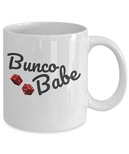 (Bunco Babe Coffee Mug - Gag Themed Gifts Ideas for Women - Party Favors -)