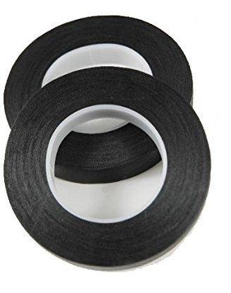 2 Pack Black Flower Tape Stem Wrap Gum Paste 1/2 X 30 Yards 180 Ft w/Floral Crafting eGuide Bundle ...
