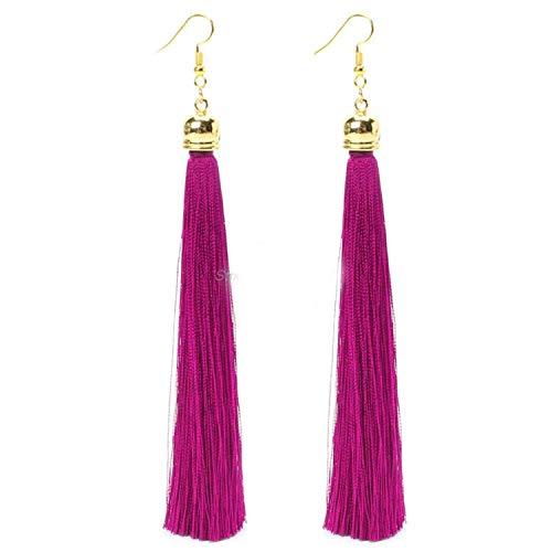 2019 New Popular Vintage Long Tassel Long Big Earrings Fashion Thread Fringe Drop Brinco Earring for -