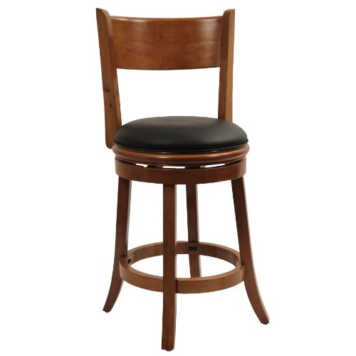"""Palmetto Swivel Counter Height Stool 24"""", Fruitwood"""