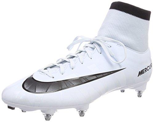 Nike Mercurial Victory VI Cr7 DF SG, Scarpe da Calcio Uomo Bianco (Blau Tint/Schwarz-weiß-blau Tint)