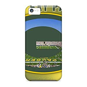 Shock-Absorbing Cell-phone Hard Cover For Apple Iphone 5c (sRN27136tcCQ) Provide Private Custom Trendy Green Bay Packers Skin