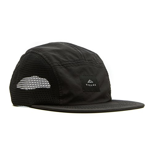 Tillak Wallowa Trail Hat, a Lightweight Nylon and Mesh 5 Panel Black Cap