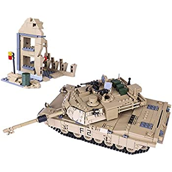 WOLFBUSH 1507Pcs Tank Building Blocks Toy Compatible with Main Building Block Brands DIY Military Tank Building Block Toy for Kids Aged 6+