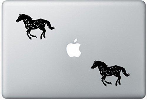 Horse Decal PetsAffectionLaptop2000 Set Of Two (2x) , Dog Decal , Sticker , Laptop , Ipad , Macbook ()