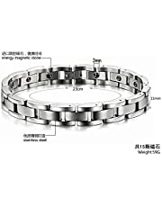 STAINLESS STEEL BRACELETS HEALTH POWER ENERGY GERMANIUM MAGNETIC STONE