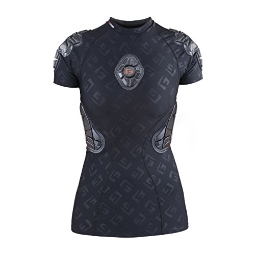 G-Form Women's Pro-X Padded Compression Shirt, Black Logo, Adult Small