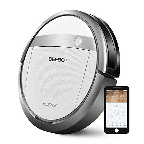 ECOVACS DEEBOT M87 Robotic Vacuum Cleaner, White/Grey (Renewed)