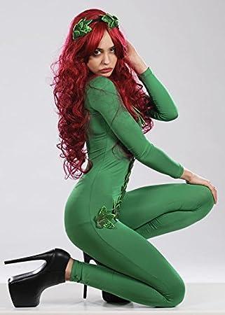 Talla de adulto Sexy Vixen de estilo Poison Ivy villano disfraz M ...