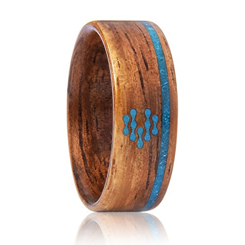 CNICK Smart Ring for Door Access and NFC Enabled Devices, Compatible with Mobile Devices. Fashionable Wooden Ring with RFID IC/ 13.56 MHZ.