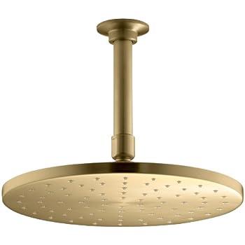 Image of KOHLER K-13689-BGD 10-Inch Contemporary Round Rain Showerhead, Vibrant Moderne Brushed Gold