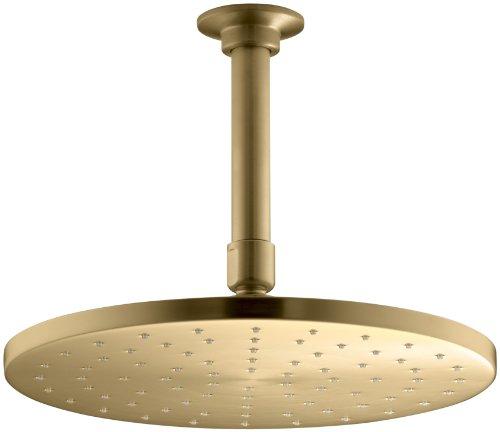 KOHLER K-13689-BGD 10-Inch Contemporary Round Rain Showerhead, Vibrant Moderne Brushed Gold ()