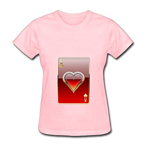 Fanz Women's Heart Face Decent Lucky Magic Wealth Fortune T-Shirts XL - Square Texas Face