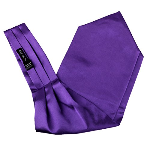 Dan Smith DRA7E01W Purple Solid Mens Ascot Classic and Fashion Cravat for Christmas Day Gift (Classic Dan Costume)