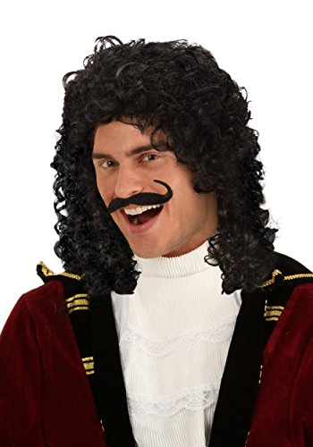 LF Products Pte. Ltd. Captain Hook Short Curly Pirate Swashbuckler Wig Standard for $<!--$21.99-->