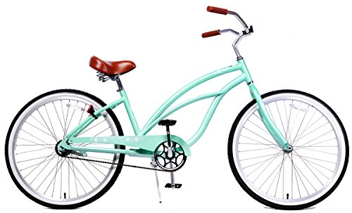Fito Women's Marina Aluminum Alloy 1-Speed Beach Cruiser Bike, Mint Green, 15.5″ x 26″/One Size Review