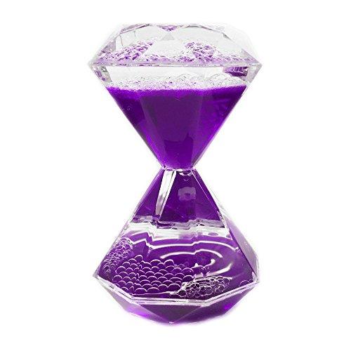 - Purple Motion Liquid Hourglass Timer Diamond Shaped Bubbler Stimulant Fidget Gadget Toy