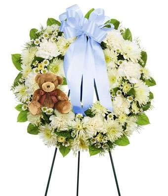 Funeral Standing Spray - Funeral Wreath Standing Spray - Same Day Funeral Flower Arrangements - Buy Flowers for Funeral - Send Funeral Flowers Delivery & Condolence Flowers Today