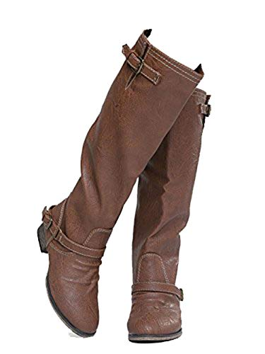 Breckelle's Women's Outlaw-81 Knee High Boot New TAN (6)
