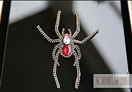 Image Unavailable. Image not available for. Color  SMALL-CHIPINC - 1 pcs  Sequined red spider Patch for Clothes Sewing on Rhinestone Beaded ef38b8c1a052