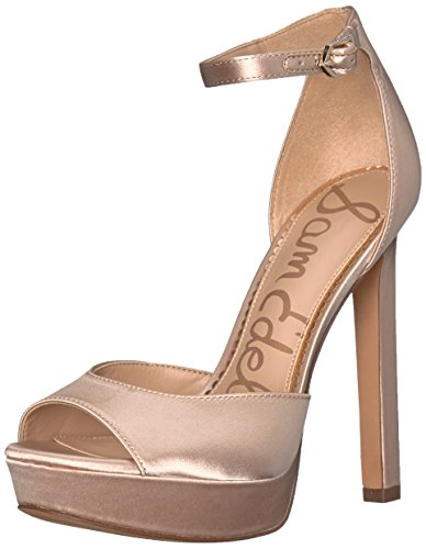 Sam Edelman Women's Wallace Heeled Sandal, Champagne, 8 Medium US by Sam Edelman