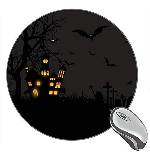 Halloween Castle Moon Pumpkins Bats Moon Owls Graveyard