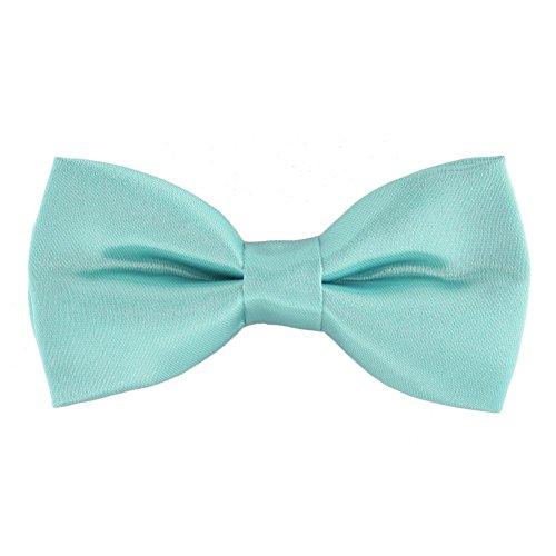 Bello Giovane Mens Hand Made Classic Satin Bow Tie (Tiffany - Mens Tiffany