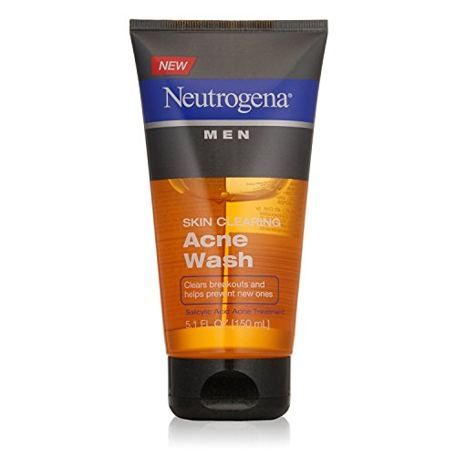 Neutrogena Men Skin Clearing Acne Wash, 5.1 oz, 2 Pack