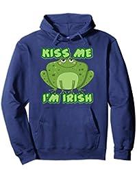 St. Patricks Day Funny 'Kiss Me I'm Irish' - frog hoodie