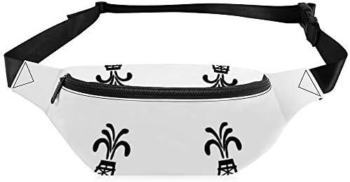 石油リグの白と黒が大きい ウエストバッグ ショルダーバッグチェストバッグ ヒップバッグ 多機能 防水 軽量 スポーツアウトドアクロスボディバッグユニセックスピクニック小旅行