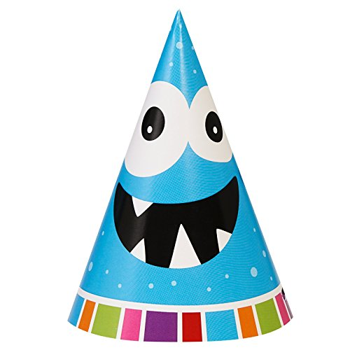 Aliens and Monsters Party Supplies - Cone Hats (8) (Monster Inc Party Tablecover compare prices)