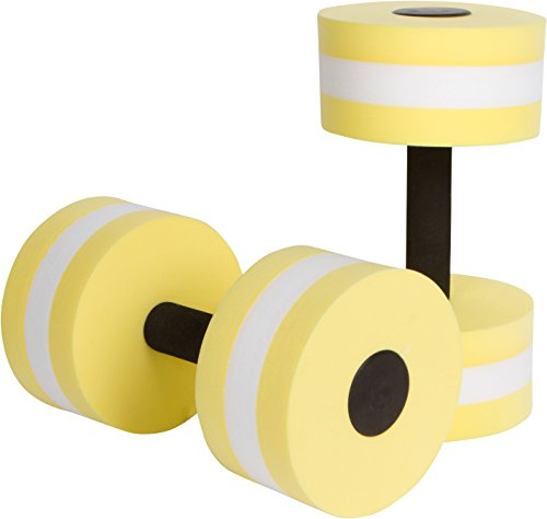 Trademark Innovations Aquatic Exercise Dumbells - Set of 2 Foam - for Water Aerobics (Yellow)